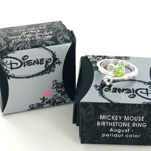 Disney August Birthstone ring